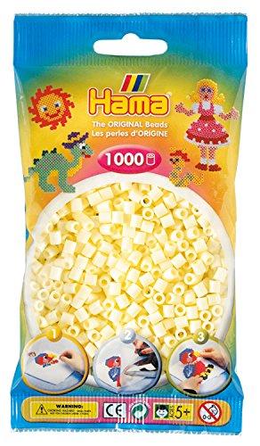 Hama 207-02 - Bügelperlen im Beutel, ca. 1000 Stück, creme (02 Creme)