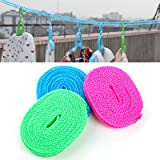 Okayji Shujian 3 Meter Nylon Anti Slip Windproof Clothesline Dry Rope - Pack of 3
