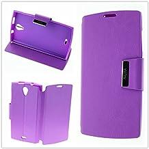 Misemiya ® - Funda Orange Nura / Alcatel One Touch M812 Libro Agenda Soporte - Morada