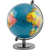 BRUBAKER Globe terrestre en Acier inoxydable - Design Bleu foncé
