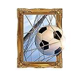 Mengonee 45x60cm Abnehmbare 3D-Fußball und Netz-Muster Wandtattoo Tattoo Environmentally Friendly-Wand-Aufkleber