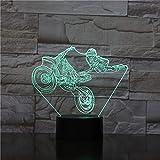 orangeww 3d Motorrad/Wohnzimmer Dekoration Led Nachtlicht / 7 Farbe Nachtlicht/Halloween Geschenk/Nettes Geschenk/Kinder Weihnachtsgeschenk/Touch-Fernbedienung