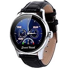 Fantime Smartwatch Relojes Inteligentes Teléfonos Bluetooth Soporta Llamada Mensaje SIM Podómetro/Monitor de sueño/Deporte/Facebook/Twitter/para iPhone 6/ 6s/ 5/ 4s y Android