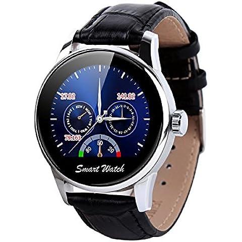 Fantime Smartwatch Relojes Inteligentes Teléfonos Bluetooth Soporta Llamada Mensaje SIM Podómetro/Monitor de sueño/Deporte/Facebook/Twitter/para iPhone 6/ 6s/ 5/ 4s y