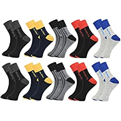 Krystle Men's Flat Knit Quarter Ankle Socks pack of 10