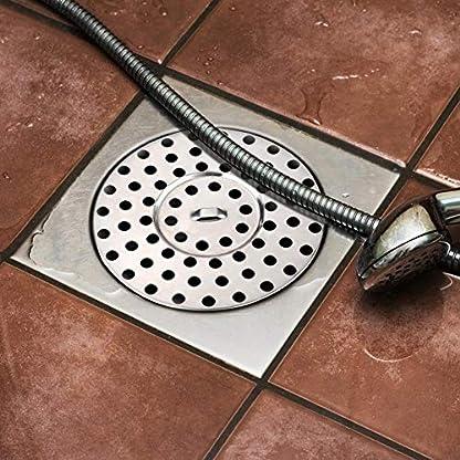 Drenaje de Piso Redondo de Acero Inoxidable, 8.5 cm de diámetro Drenaje de la Ducha Balcón Drenaje Guardias Residuos Rejilla Colador para baño Cocina Aseo Jardín al Aire Libre