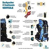 Outdoorer Backpacker Rucksack 4 Continents 85+10, 95l, 2,3kg - 6