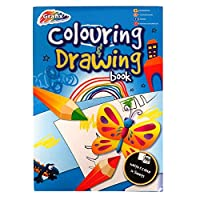Miqat Grafix 2 in 1 A4 Colouring and Drawing Pad - 60 Sheets - 36 White and 24 Illustrated