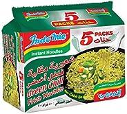 Indomie Green Chilli Fried Noodles, 5 X 80 gm