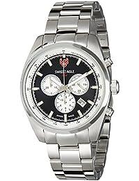 Swiss Eagle Analog Black Dial Men's Watch - SE-9068-11