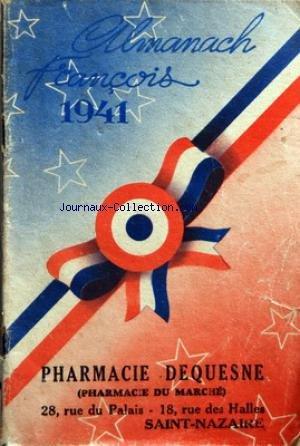 ALMANACH FRANCOIS du 01/01/1941 - PHARMACIE DEQUESNE.