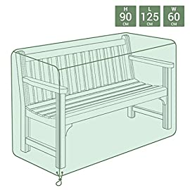Colore Grigio Bosmere NP050 Copertura per panchina a 3 posti
