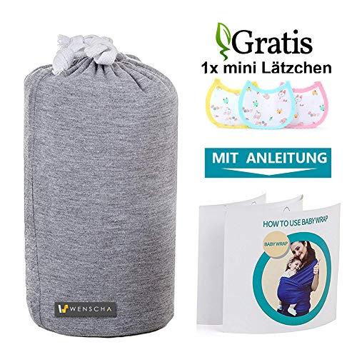 Babytragetuch, Babybauchtrage aus Baumwolle Innerhalb 15KG Atmungsaktiv Babybauchtrage Kindertragetuch Sling Baby Warp für Neugeborene,GRATIS 1x Baby-Lätzchen - 5