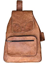 Handcrafted Genuine Leather Vintage Brown Laptop Backpack For Unisex 12x15 Inch