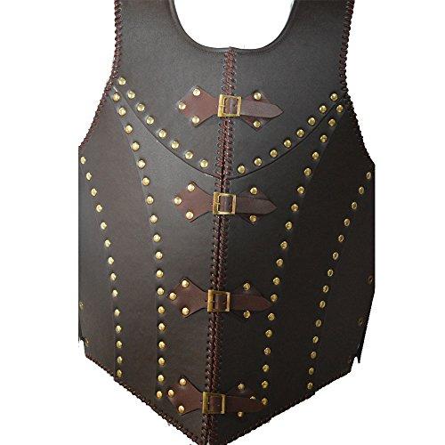 Mittelalter braun Leder Dragon Warrior Armor Jacke Kostüm Larp (Kostüm Dramen Besten)