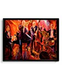 #2: Ownclique Retro Jazz Sketch Art Canvas Poster, 16x20 inches Canvas Print [HD Bright Art Print, Large Size, Rolled Poster]