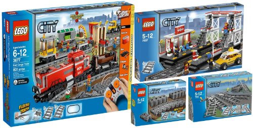 lego city train marchandises d occasion. Black Bedroom Furniture Sets. Home Design Ideas