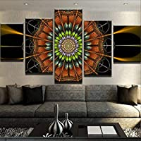 VCTQR 5 consecutive paintingsHome Decor Living Room Wall Modern HD Print Abstract Flower Painting Poster Modular Picture Canvas Art