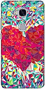 The Racoon Love trian Grip printed designer hard back cover for Huawei Honor 5C