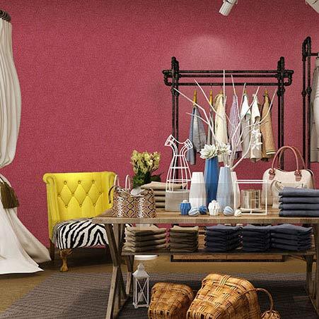 ZCHENG Papier peint fille rose clair rouge en soie non tissée chambre d'enfants chambre princesse papier peint uni uni, B, rose pâle, seul le papier peint