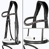 Heinick-Reitsport - Pantaloni da Equitazione, Colore: Nero/Bianco, Nero, Warmblut/Full