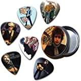 Bob Dylan Set of 6 Loose Púa Para Guitarra in Tin ( Collection C )