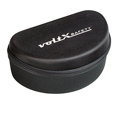 voltX - Große Schutzbrille Schutzhülle. Flock gefüttert mit Gepäcknetz - Large Safety Glasses Case