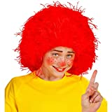 Amakando Wuschelkopf Perücke Clown Kinderperücke rot Rote Wuschel Haarperücke Pumuckl Faschingsperücke Fee Haare Fizzy Karnevalsperücke Frechdachs