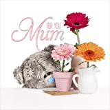 Me To You Tatty Teddy 3D Holographic Mother's Day Card - For You Mum