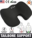 Dr Trust USA Coccyx pillow Seat Tailbone Cushion for pain relief sciatica (Black)