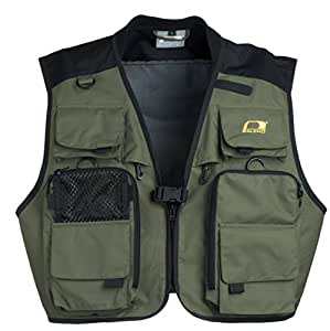 baleno men 39 s bobbin fly fishing vest green xx large
