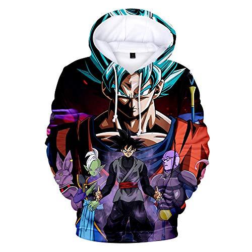 Dragonccc Unisex Anime Sweatshirt Kapuzenpullover Hoodies Langarm für Damen und HerrenDragon Ball Wukong Broli Vegeta Super Saiyajin Series @S - Ball Frauen Für Z-kleidung Dragon