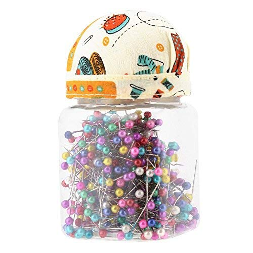 500pcs perlen nadeln Quilting direkt pins kugelkopf orange Stoff - Polster Fallen gemischte runde Perle Flasche nähen Craft - zubehör - Multicolor -