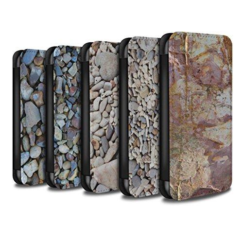 Stuff4 Coque/Etui/Housse Cuir PU Case/Cover pour Apple iPhone X/10 / Pack 15pcs Design / Pierre/Rock Collection Pack 15pcs