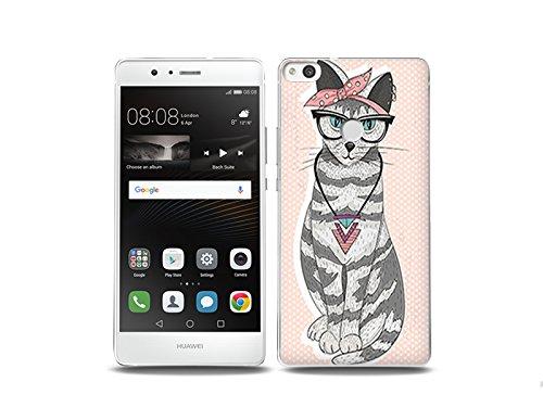 etuo Huawei P9 Lite (2017) Handyhülle Schutzhülle Etui Hülle Case Cover Tasche für Handy Fantastic Case - Kätzchen