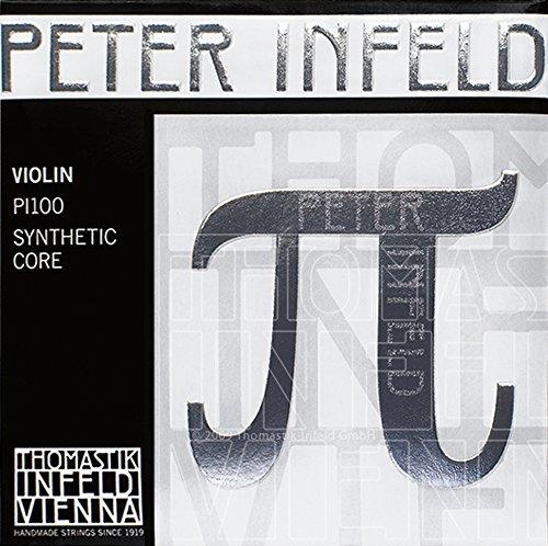 Thomastik 634525 Saiten für Violine Synthetic Core Peter Infeld, Satz 4/4 E Platin