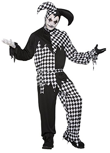 'Forum Novelties 76612 Harlequin Clown Kostüm Dark Jester (UK - Halloween-harlekin-make-up