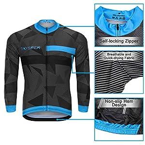 SKYSPER Cycling Maillot Men Jersey + Pantaloni lunghi Ciclismo manica lunga Set abbigliamento Set Maillot Entretiempo per Outdoor Sports Cycling Bike