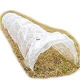 LouisaYork Pflanztunnel, Gartentunnel, Pflanzenschutz, Schutz vor Schädlingen, 310 x 45 x 30 cm, Hdpe Cover, 310x50x40cm