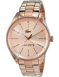 Lacoste 2000899 - Reloj analógico para mujer, pulsera bañada en oro