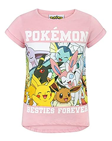 Pokemon Besties Forever Girl's T-Shirt (13-14 Years)