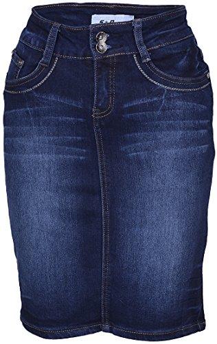 Edler Pin Up BASIC Retro JEANSROCK / Pencil Skirt Rockabilly (Pencil-skirt Reißverschluss Vorne)