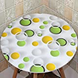 Mantel, Impermeable Cristal Tabla Café Mantel PVC Mantel Impreso Sombreado 1MM ( Color : B , Tamaño : Round-80cm )