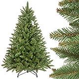 FairyTrees Weihnachtsbaum künstlich FICHTE Natur, grüner Stamm, Material PVC, inkl. Metallständer, 150cm