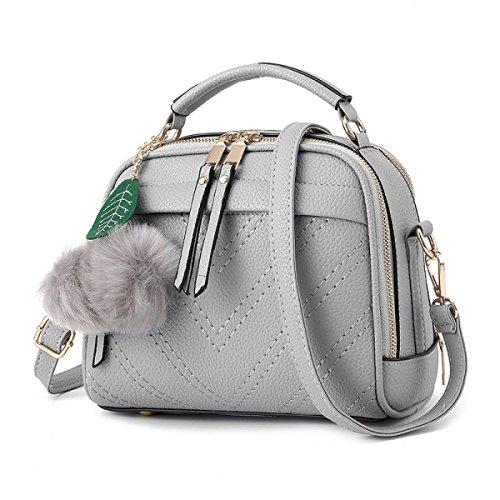 2017 Womens Stylish Hobo Taschen Mit Quasten Umhängetasche Handtasche lightgray