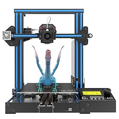 GIANTARM geeetech A10 3D-Drucker mit Großem Bauraum: 220 * 220 * 260mm, Schnell Aufzubauendes DIY Kit. Für 1.75mm PLA.