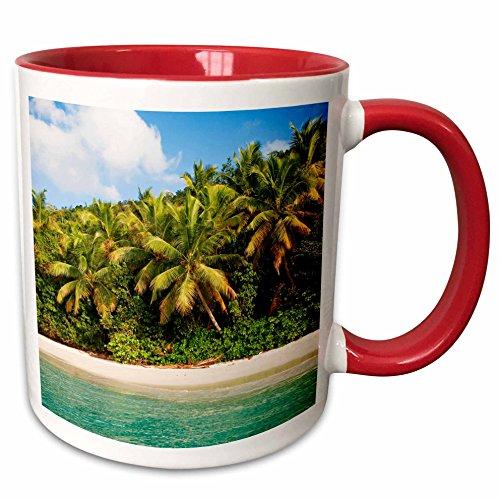 3dRose 226607_5 Cinnamon Bay, St. Johns, US Virgin Islands Tasse, zweifarbig, 325 ml, Rot/Weiß