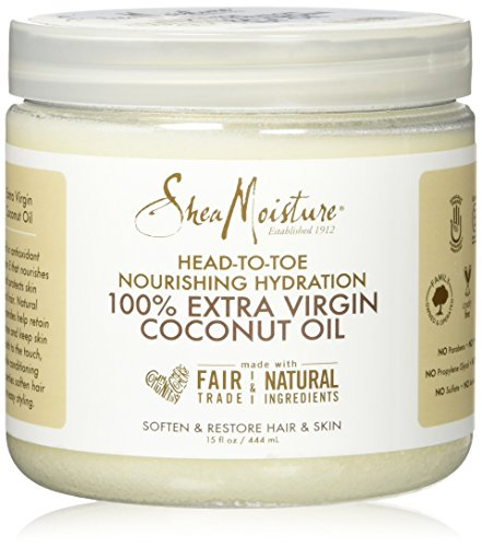 Shea Moisture 100% Extra Virgin Coconut Oil by Shea - Coconut Oil Hair Virgin