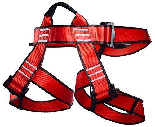 Newdoar, imbracatura da arrampicata, da donna, uomo, bambino, mezza cintura di sicurezza per attrezzature da alpinismo, arrampicata su roccia, nera