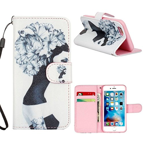 hyait® for iPhone 6/6S (4.7Zoll) Case Flip Leather Wallet With Card Holder and Kickstand Case Cover zmd12 ZMD06